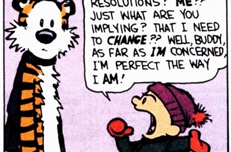 Calvin & Hobbes: A Word on New Year's Resolutions