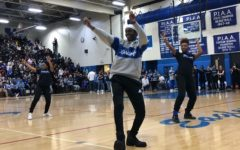 Blue & White Brings Out the Pep in Warm Winter Rally