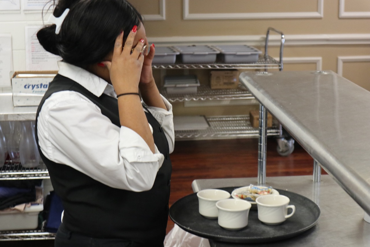 Emma Jean-Charles, senior, faces the everyday challenges of working in a restaurant.