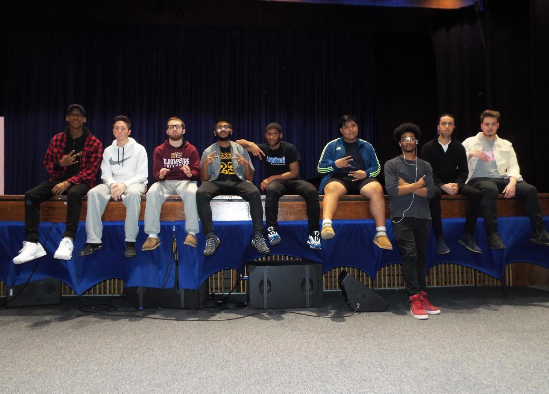 (from left) Wilbert Richardson, Michael Kinsey, Santino Carlomagno, Nandin Patel, Doje Toussaint, Miguel Barcenas, Victor Walker, Giovanni Piergrossi, Luke Vitale
