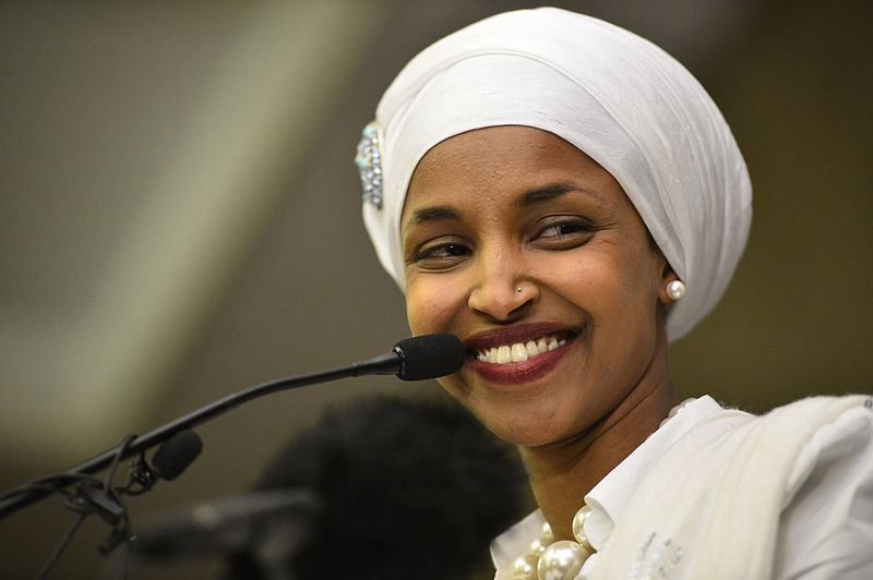 Rep.+Ilhan+Omar+was+the+subject+of+a+video+posted+to+President+Trump%27s+official+Twitter+page%2C+which+spliced+clips+her+of+her+speaking+with+clips+of+planes+striking+the+World+Trade+Center+on+Sept.+11%2C+2001.+
