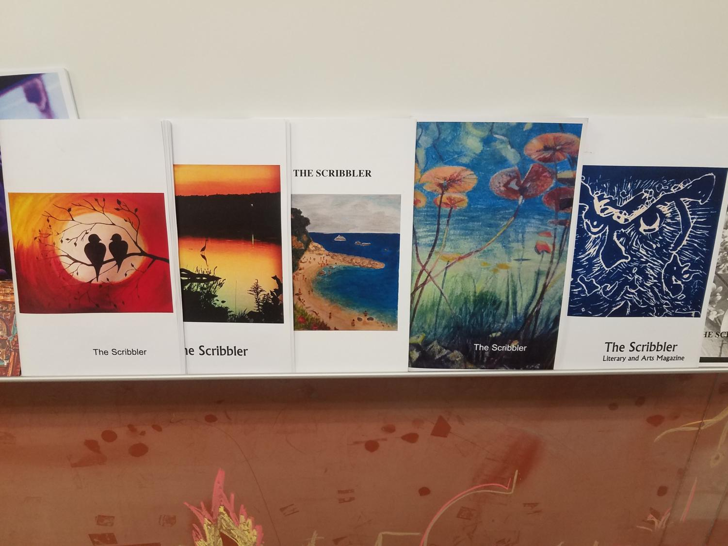 The Scribbler has been publishing for years and the photos on the front displays the artwork or the picture of the previous winners of the year.
