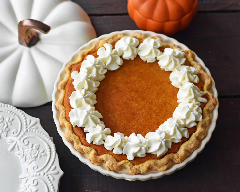 Melissa Stadler offers the best pumpkin pie recipe, along with countless others, at her website modernhoney.com