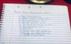 Students New Years Resolutions and hopefully going through with them this year.
