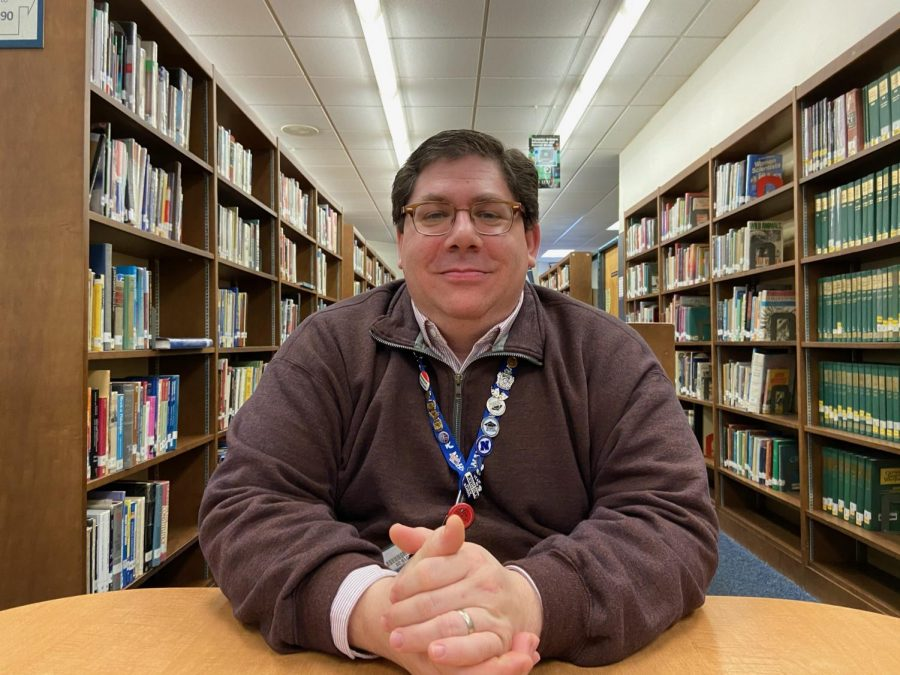 Robert Schmalbach is leading the library's first big renovation in his 17 year career here at NAHS.