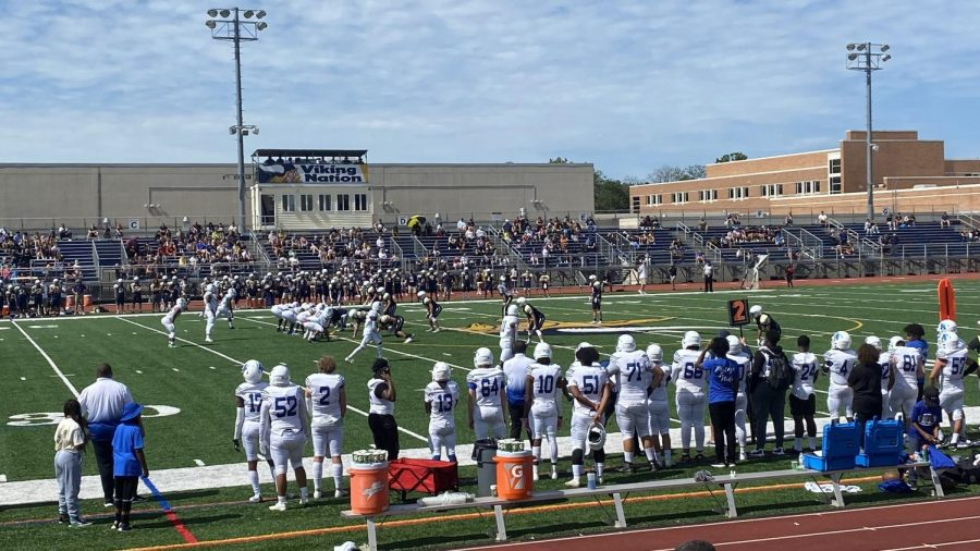 The Norristown Eagles line up for a play down the field in the Battle of the Bridge.